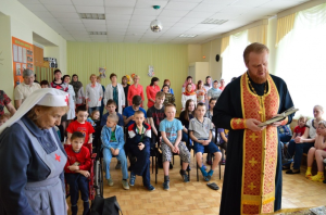 Молебен в Детском Реабилитационном центре