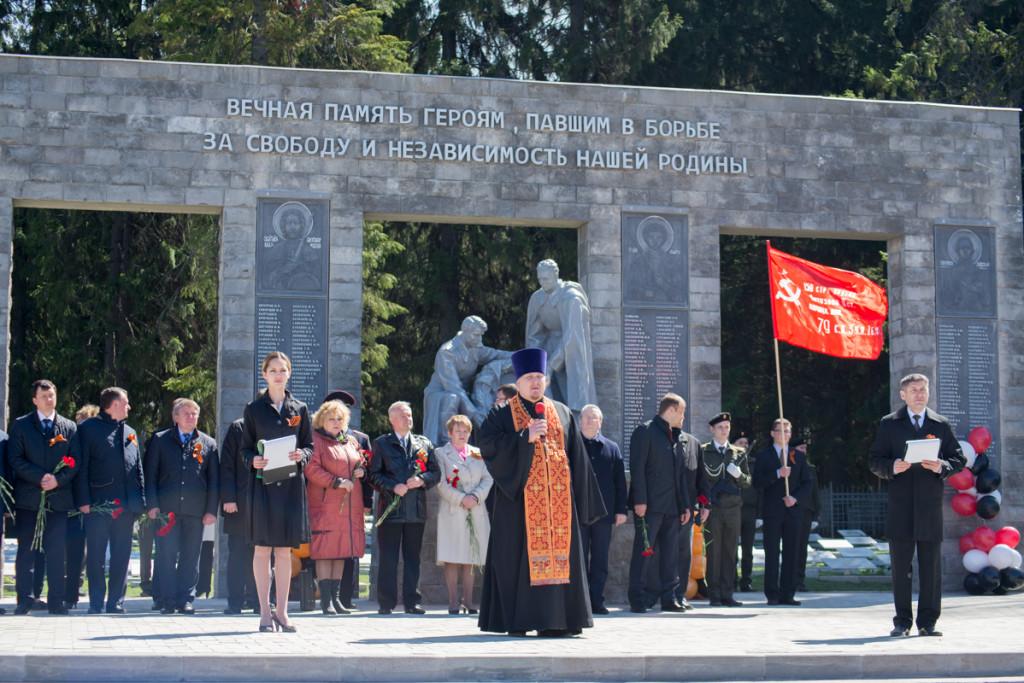На Северном кладбище Ижевска состоялось торжественное открытие воинского мемориала