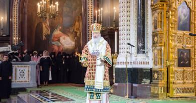 В день памяти преставления князя Владимира Святейший Патриарх Кирилл совершил Литургию в Храме Христа Спасителя