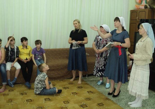Сестры милосердия провели провели православную викторину в приюте
