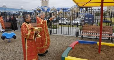 На территории Ижевского храма открыта детско-спортивная площадка