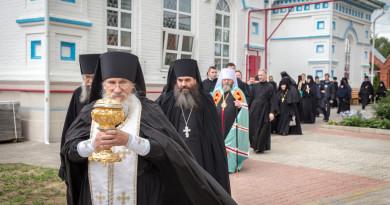 В монастыре с. Перевозное отметили престольный праздник Вознесенского храма