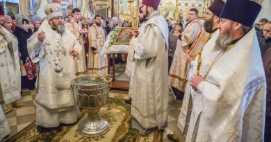 Митрополит Викторин совершил богослужение в Александро-Невском кафедральном соборе