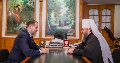Состоялась встреча митр. Викторина с депутатом Госсовета А. Вахрушевым