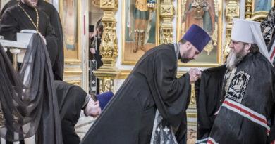 Митрополит Викторин совершил чин прощения в Михайловском соборе