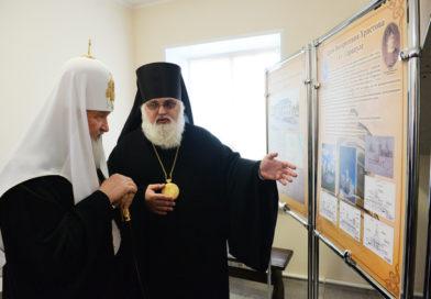 Патриарх Кирилл посетил в Сарапуле храм блж. Ксении Петербургской, епархиальное управление и Дачу Башенина
