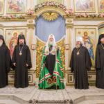 В праздник Покрова Пресвятой Богородицы Святейший Патриарх Кирилл совершил Литургию в Покровском кафедральном соборе г. Сарапула
