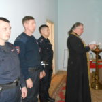 Священник напутствовал сотрудников МВД, направляющихся в командировку в Дагестан