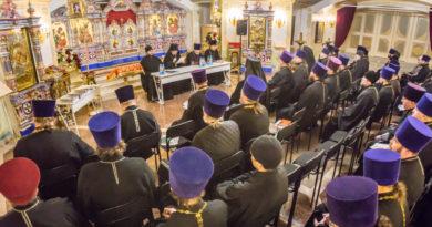 Состоялось итоговое собрание духовенства епархии