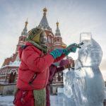 Площадь Михайловского собора украсят ледяными ангелами