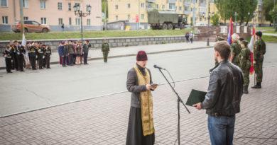 Священник благословил участников казачьего кадетского слета