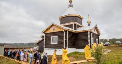 Совершено освящение храма Михаила Архангела в с. Иж-Забегалово