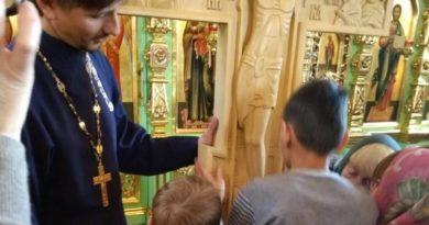 Незрячие ребята из воскресной школы Свято-Троицкого храма побывали на экскурсии в селе Якшур