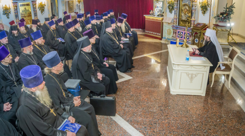 В кафедральном храме прошло собрание духовенства епархии