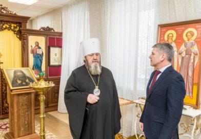 Митрополит Викторин встретился с генеральным директором ПАО «МРСК Центра»