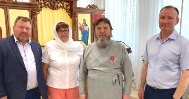 Митрополит Викторин награжден медалью ВООПиК