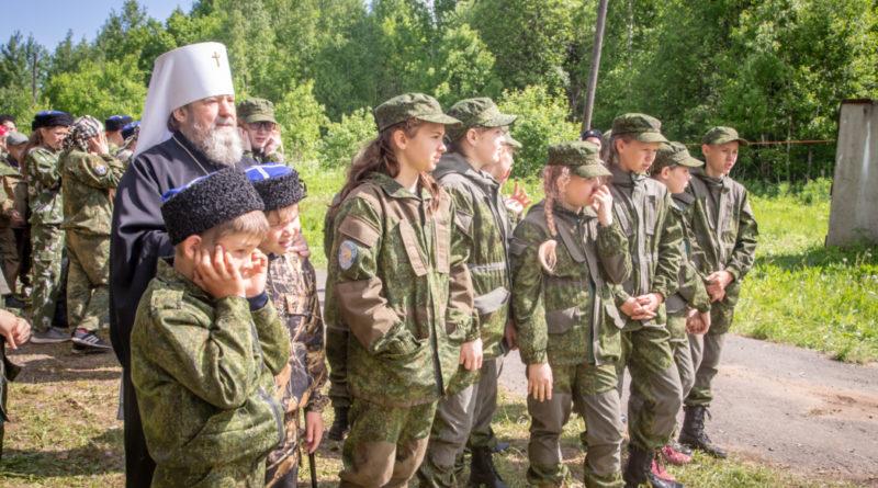 Митрополит Викторин посетил детские казачьи сборы «России верные сыны»