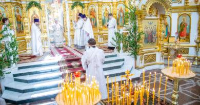 Митрополит Викторин совершил заупокойные богослужения в Троицкую родительскую субботу