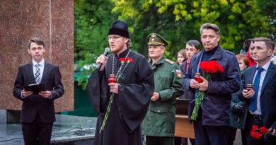 Представитель епархии принял участие в акции в честь Дня солидарности в борьбе с терроризмом
