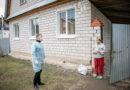 Волонтеры доставили гуманитарную помощь и освященные вербы нуждающимся, находящимся на самоизоляции