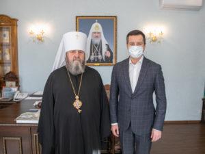 Митр. Викторин встретился с управляющим удмуртским отделением «Сбербанка»
