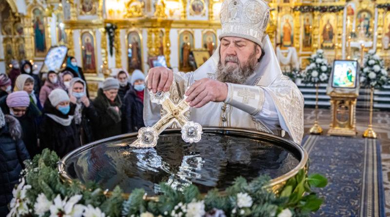 В Крещенский сочельник митрополит Викторин совершил богослужения в кафедральном храме