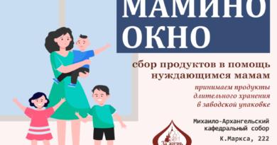 Новый благотворительный проект «Мамино окно»