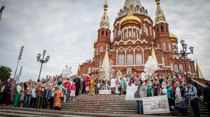 В кафедральном соборе прошла традиционная акция в защиту нерожденных детей